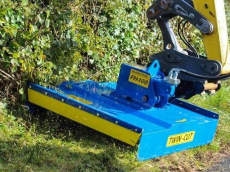 The Slanetrac FH80 Mini Digger Flail Cutter Attachment